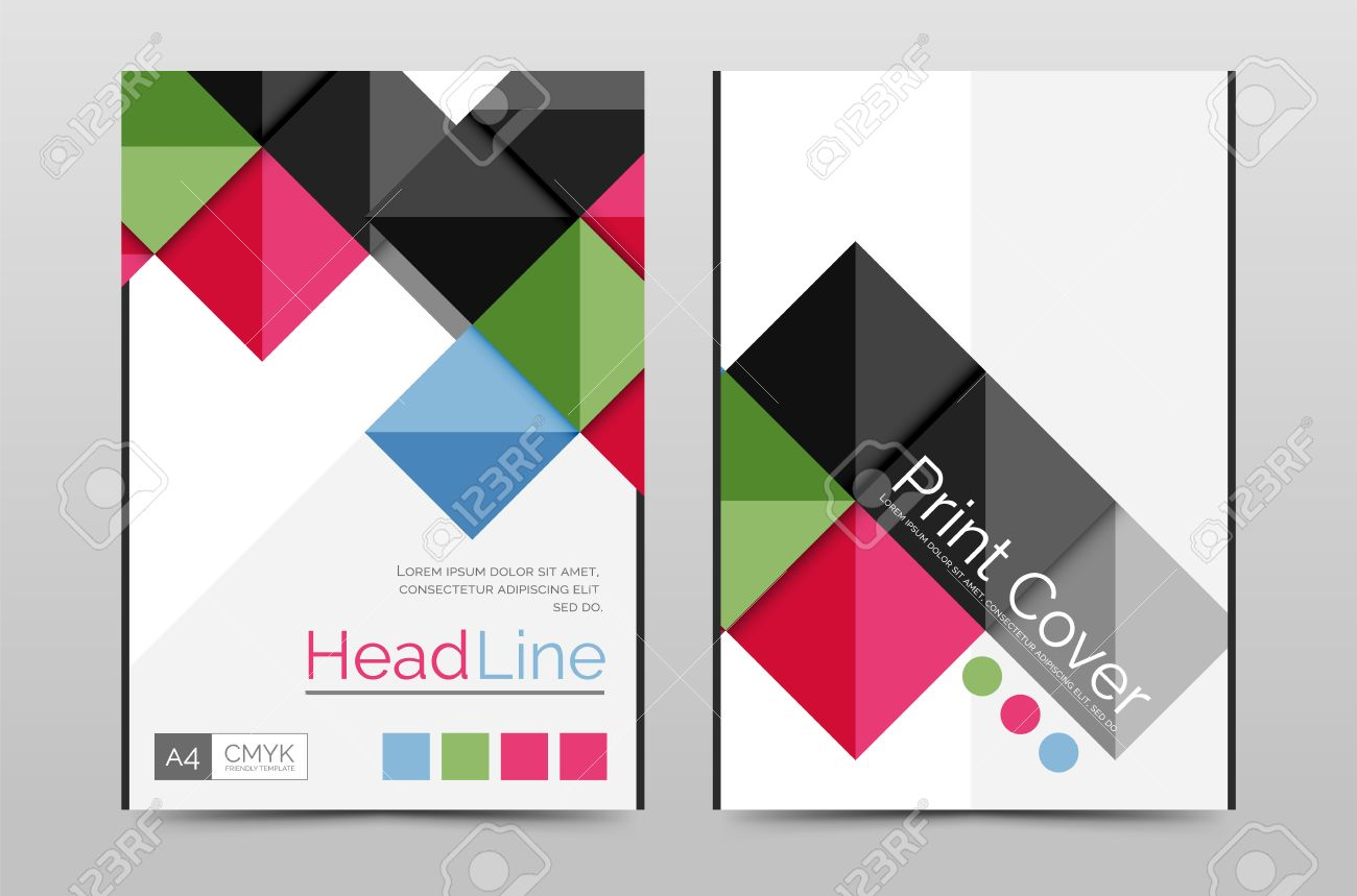 Geometric Brochure Front Page Business Annual Report Cover Vector – Annual Report Cover Page Template