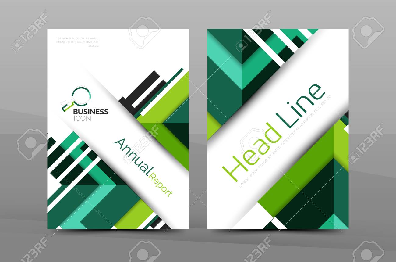 Business Cover Page Design Brochure Flyer Layout Abstract