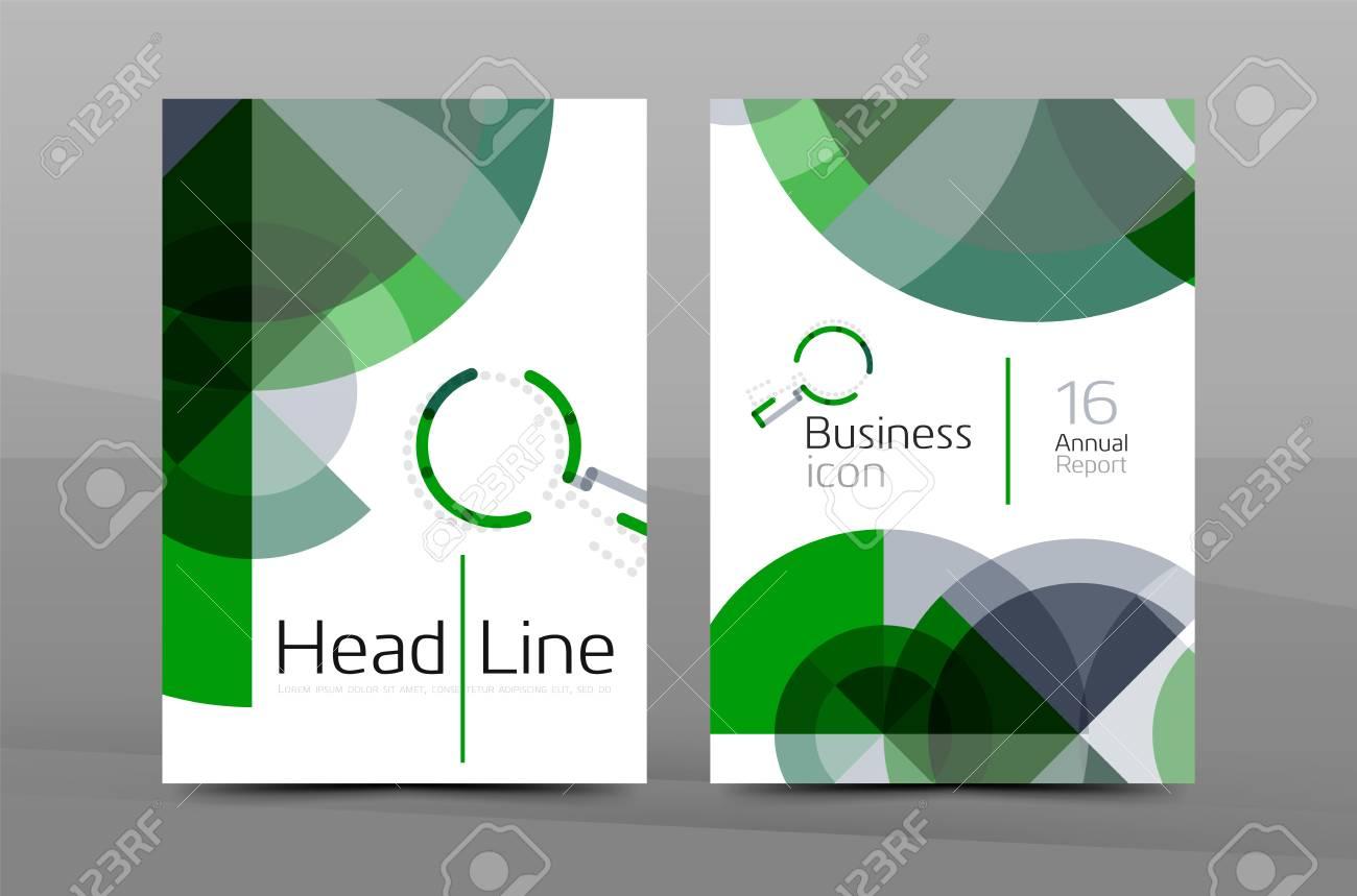 Gestaltung Der Jahresbericht Cover Broschüre, Flyer Layout-Vorlage ...