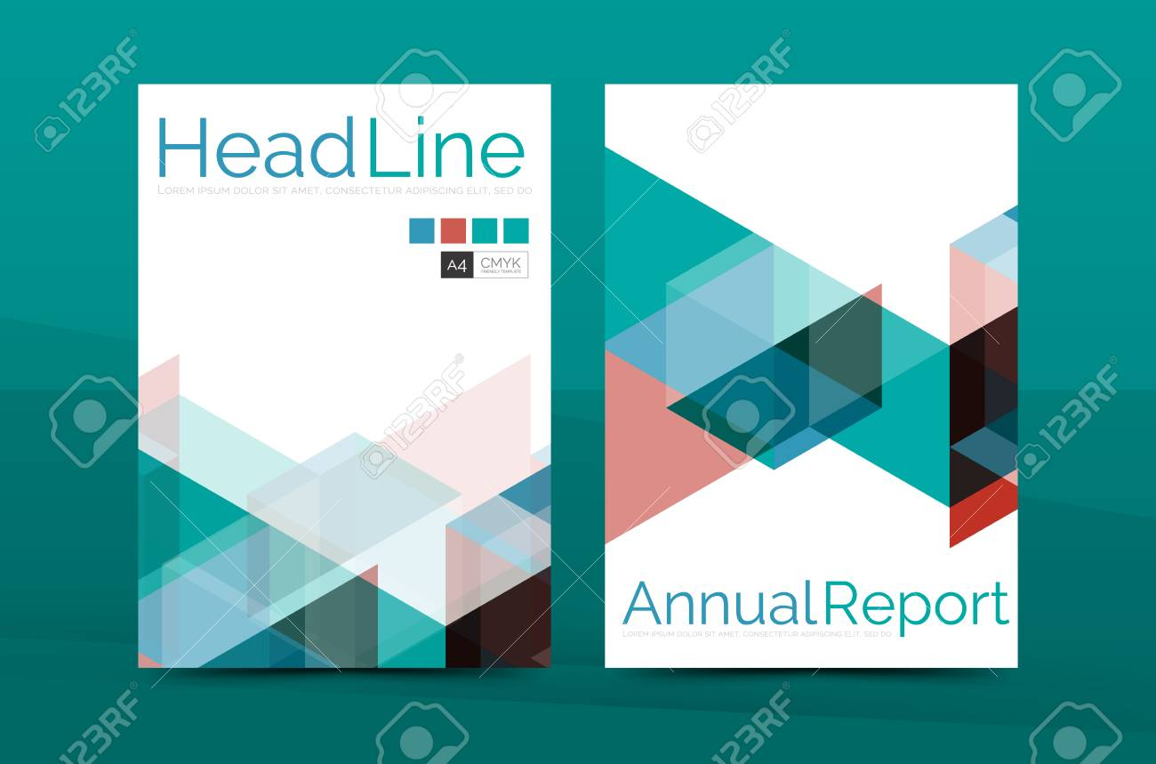 Color Business Brochure Cover Vector Template Annual Report