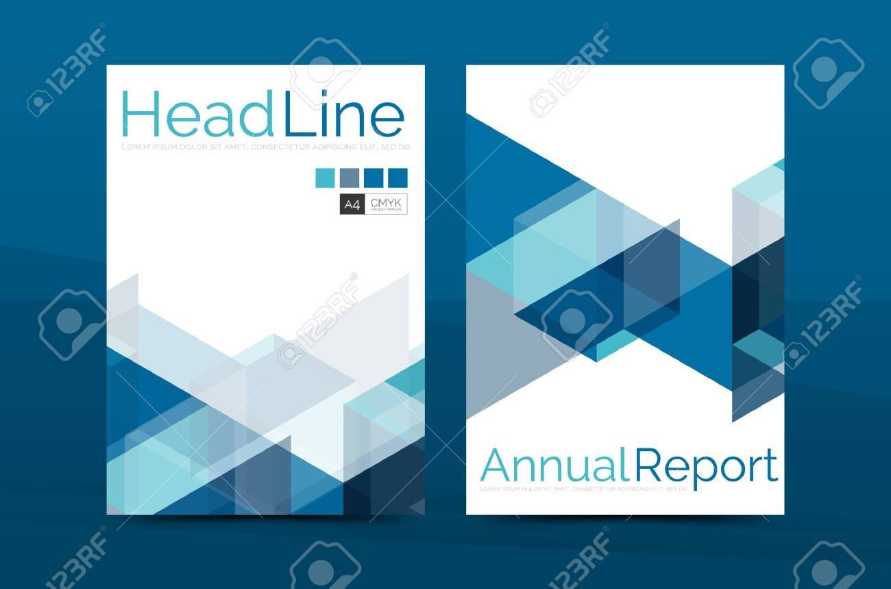 Color Business Brochure Cover Vector Template Annual Report Front Page A4 Size Leaflet