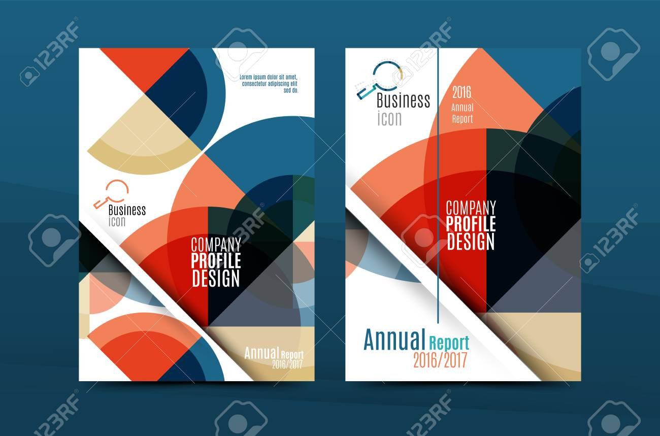 Geometric Design A Size Cover Print Template Annual Report - Annual report design templates 2016