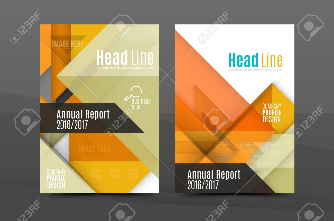 colorful fresh business a4 cover template flyer brochure