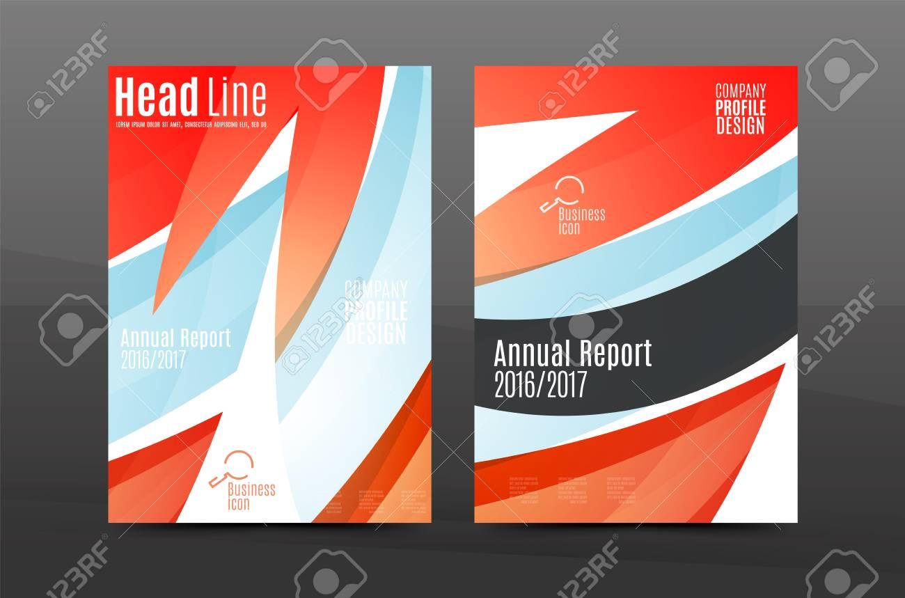 Bunte Strudelentwurf Jahresbericht Cover-Vorlage. Broschüre, Flyer ...