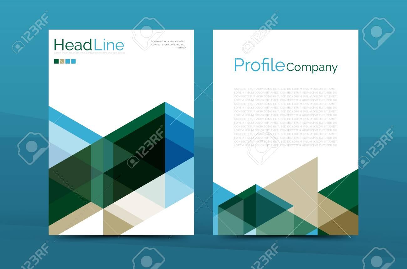 Modèle De Vecteur De Couverture Couleur Brochure Entreprise Page De Garde De Rapport Annuel Format A4 Abstrait De Dépliant Conception De Magazine