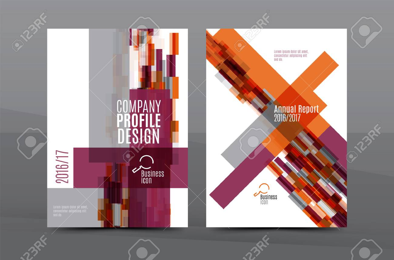 Colorful fresh business A4 cover template - flyer, brochure, book cover and annual report. Geometric design abstract background - 59336915
