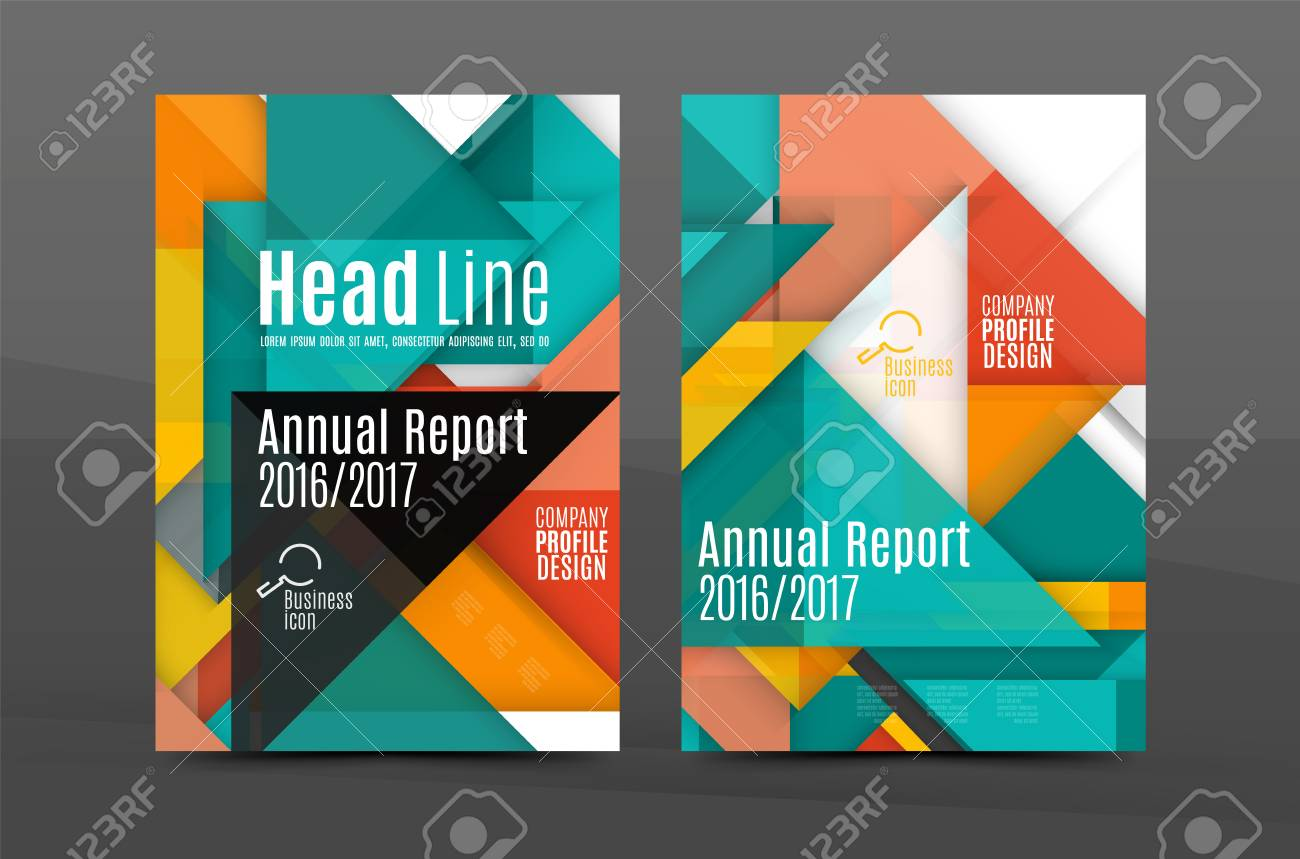 Colorful Fresh Business A4 Cover Template - Flyer, Brochure ...