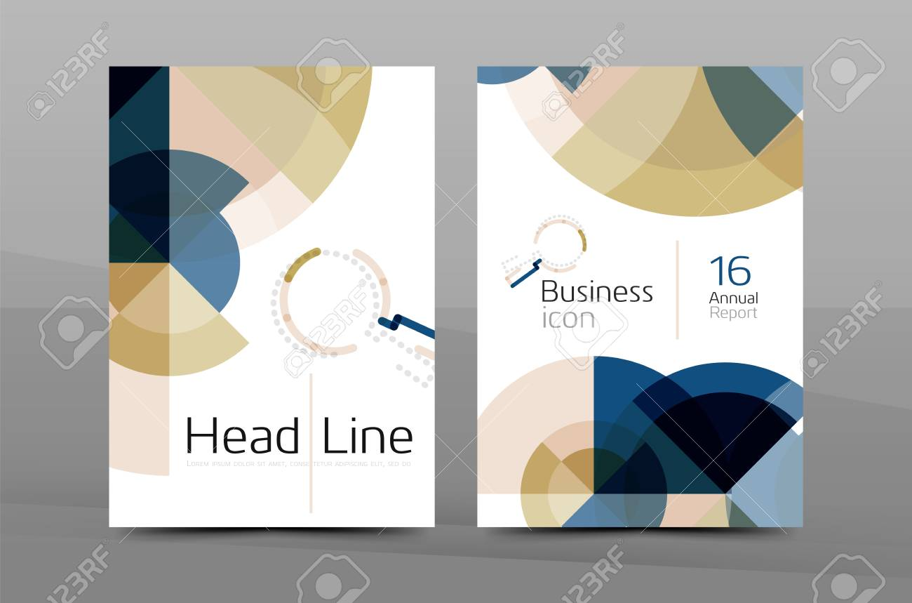 A4 annual report cover. Presentation book or magazine cover, brochure business layout - 59389396