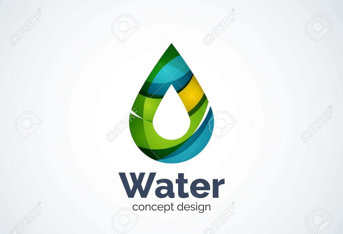 abstract business company water drop template conservation