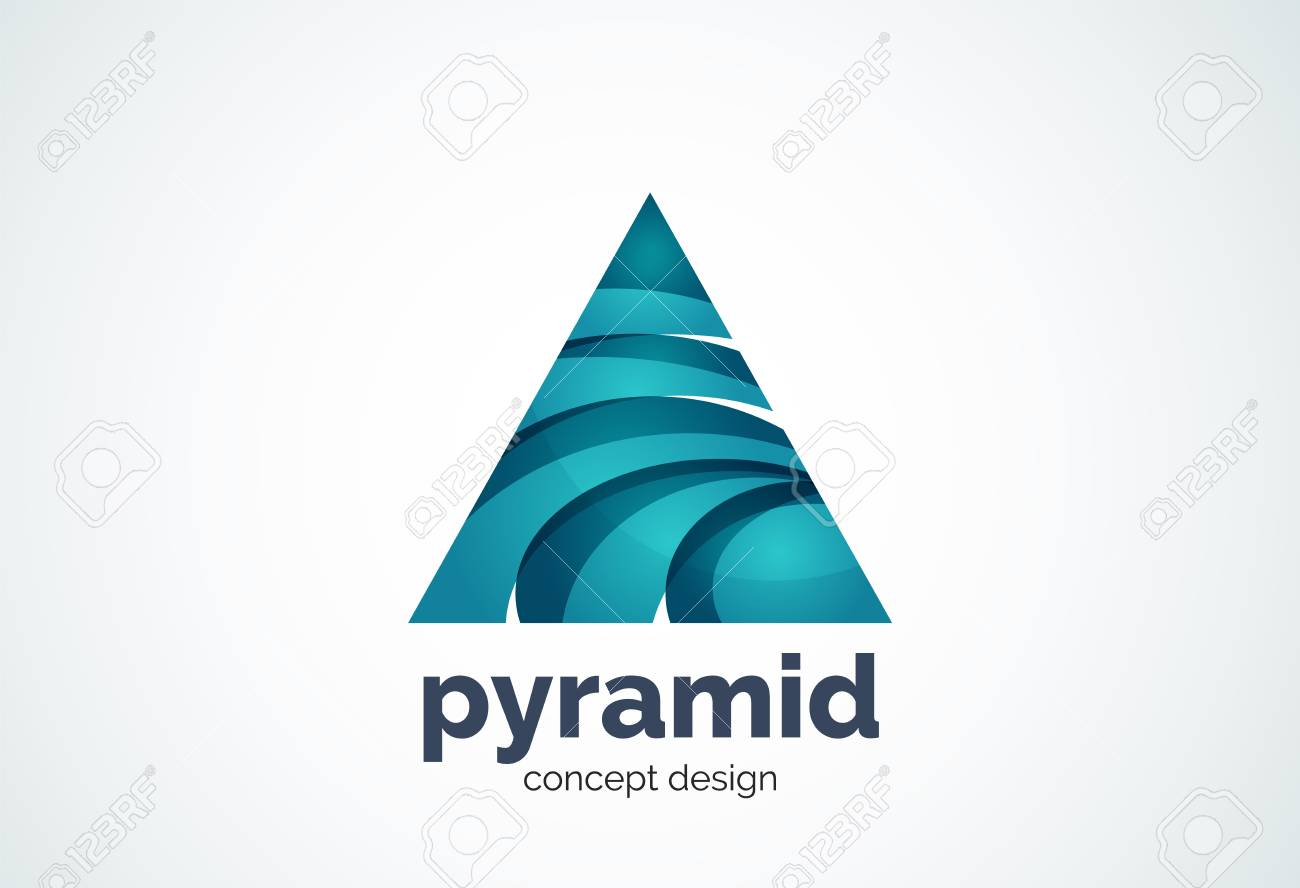 pyramid template triangle cycle concept geometric minimal