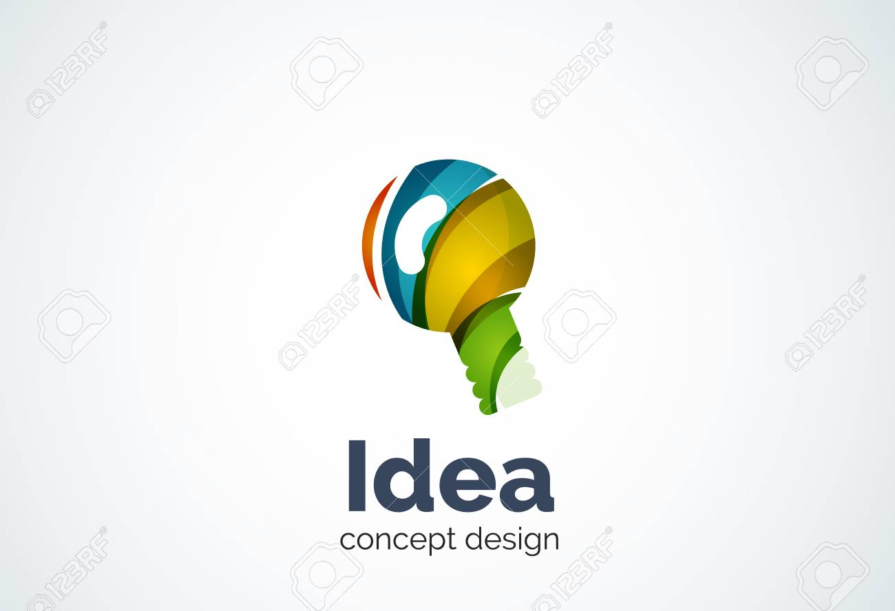 Glühbirne Vorlage, Neue Idee, Energie Oder Beleuchtungskonzept ...