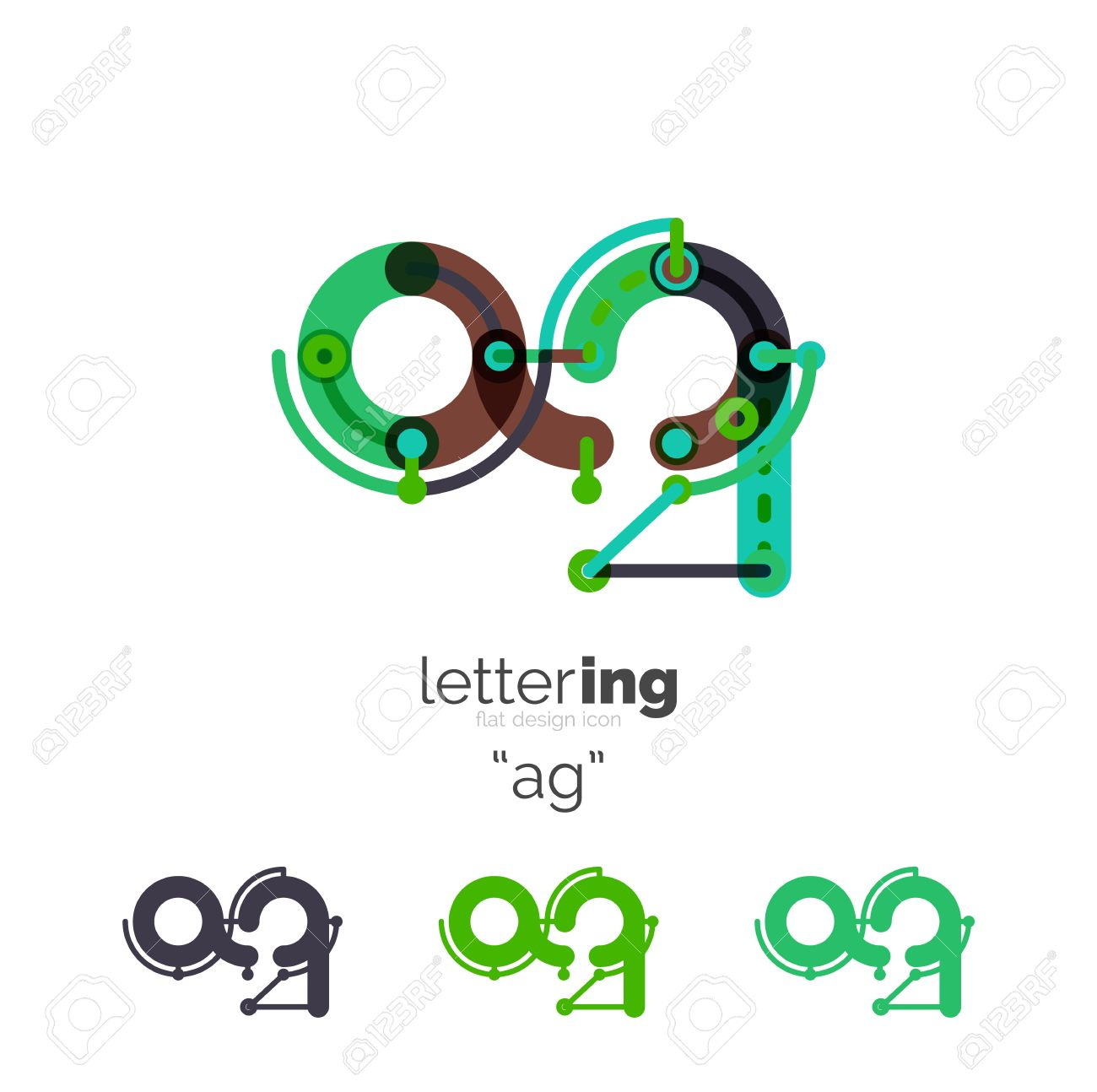 Letter Business Linear Icon On White Background. Alphabet Initial ...