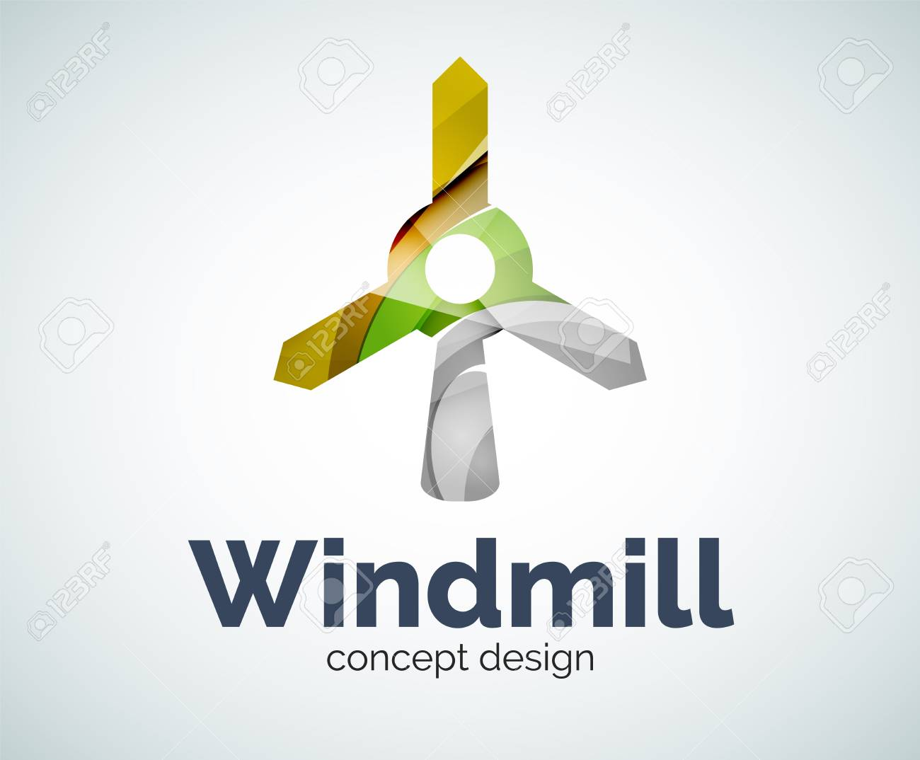 windmill template abstract elegant glossy business icon royalty