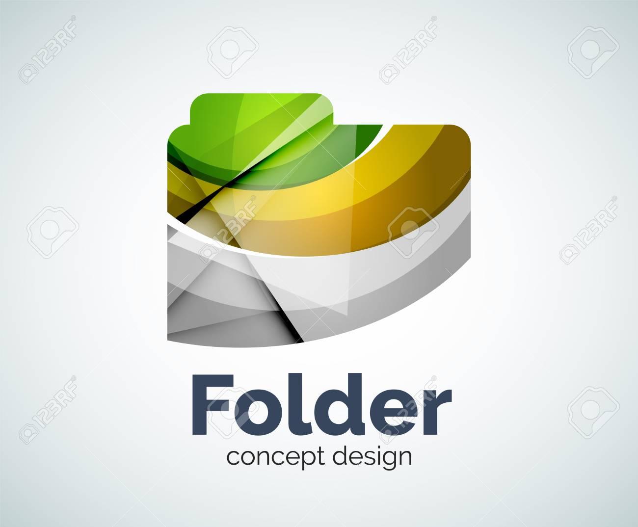 Computer Ordner Vorlage, Abstrakt Elegant Glänzend Business Icon ...