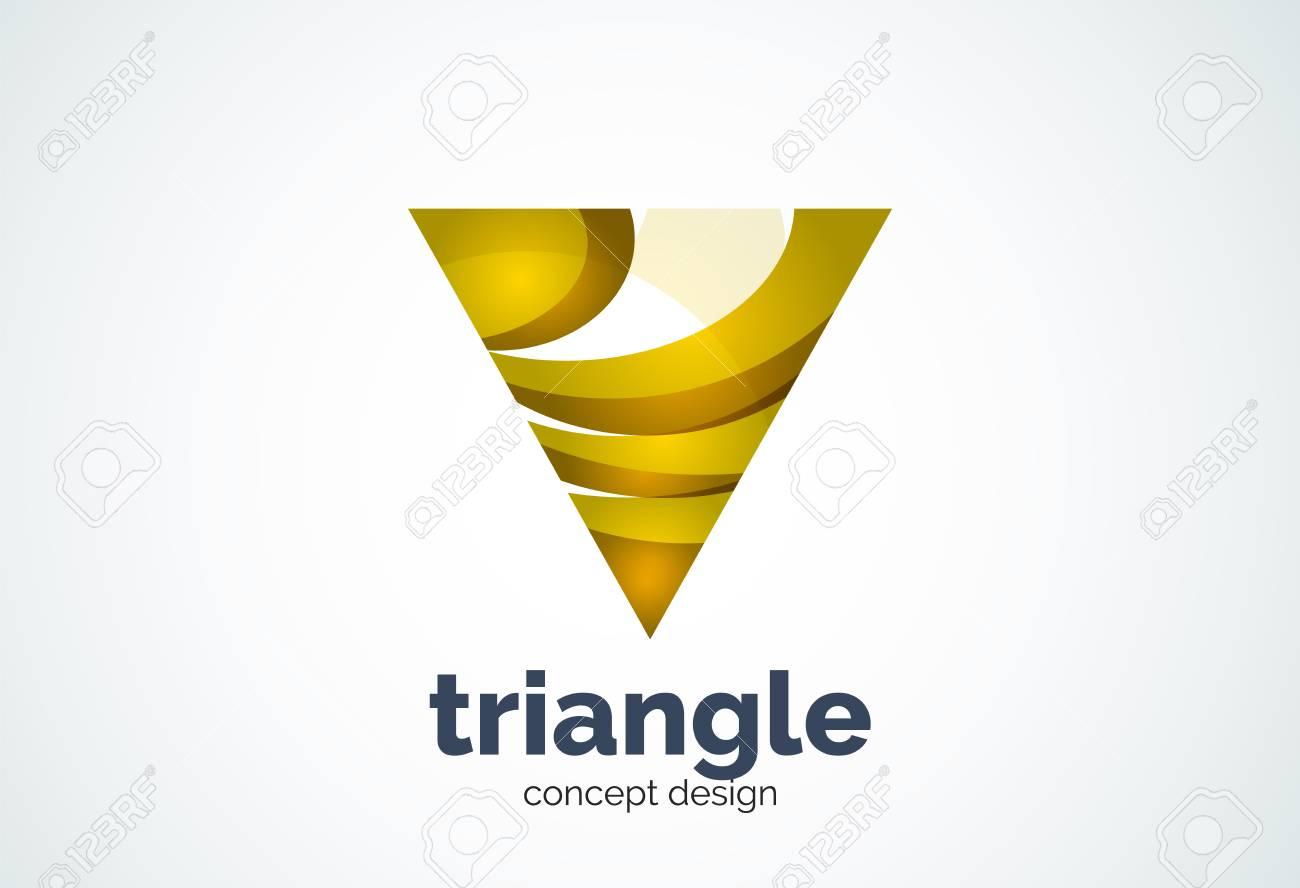 Dreieck-Vorlage, Drei-Kreis-oder Pyramiden Konzept - Geometrisch ...