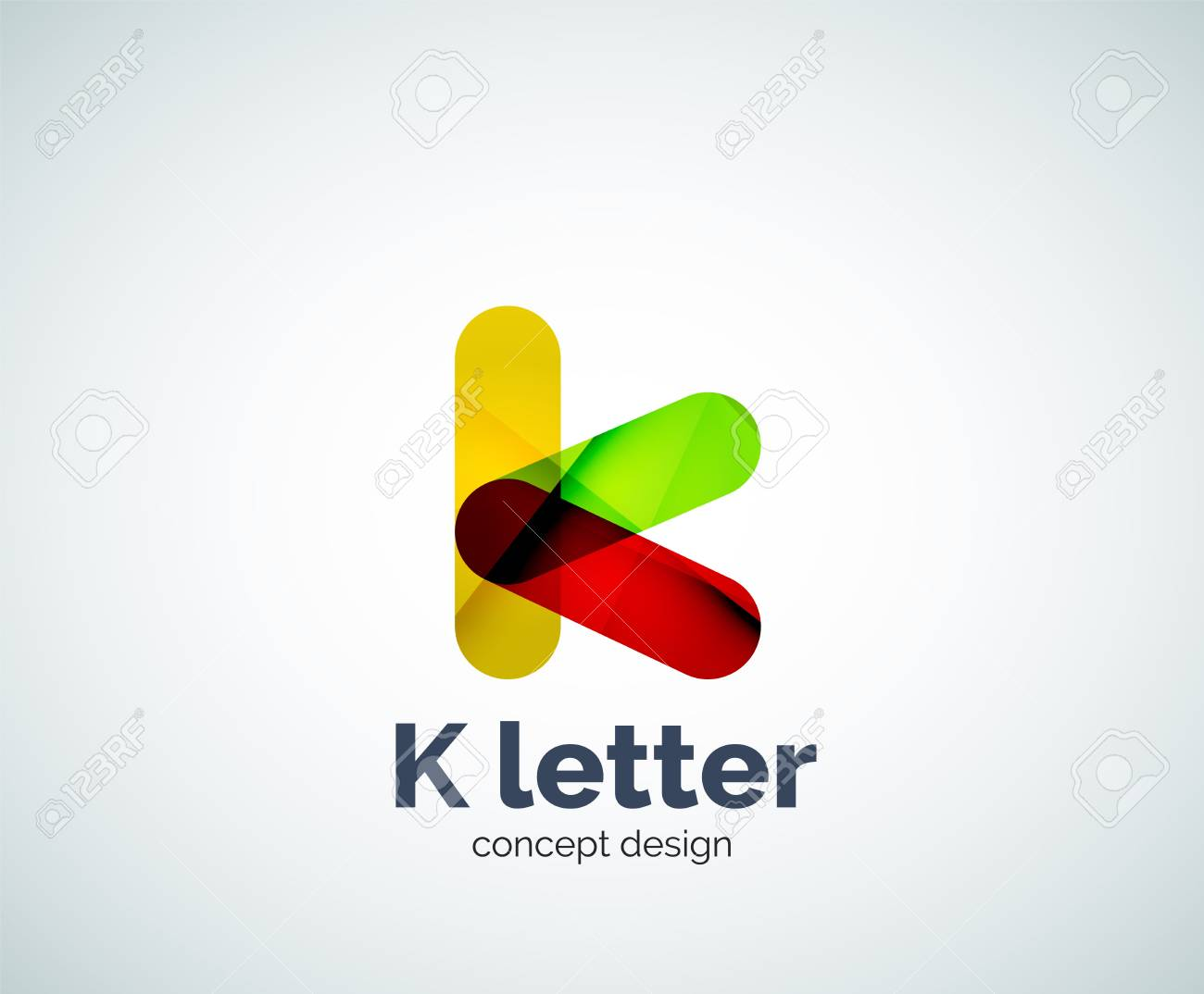 vector vector k letter template created with overlapping elements