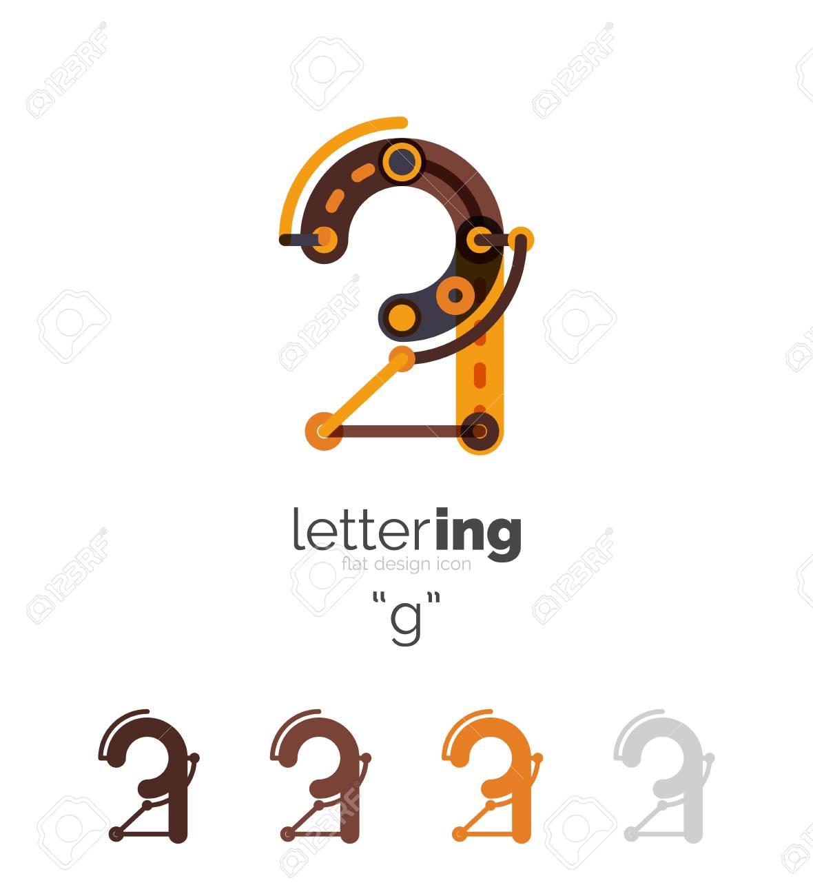 Briefgeschäft Linear-Symbol Auf Weißem Hintergrund. Alphabet ...