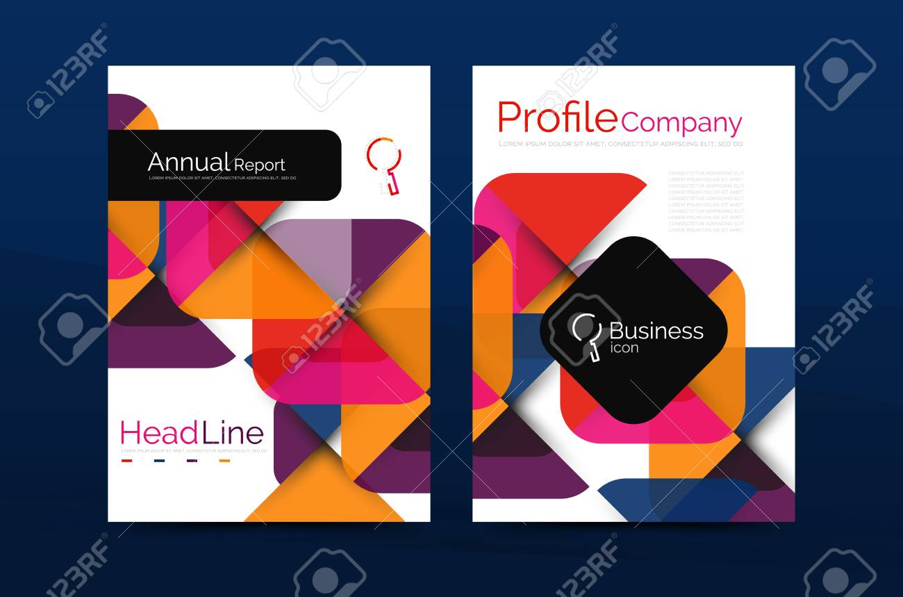 Business Company Profile Brochure Template Vector Corporate