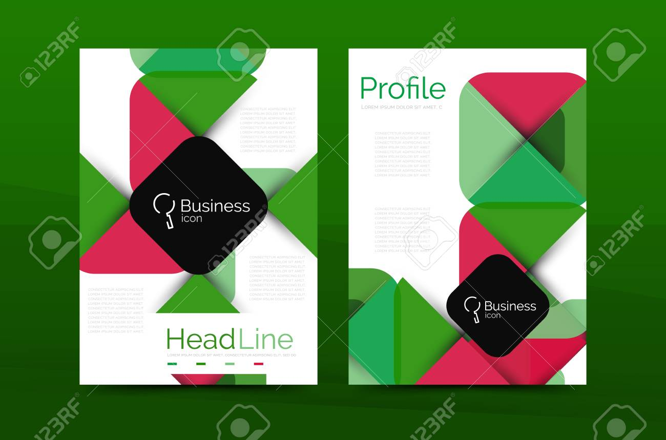 Business Company Profile Brochure Template Vector Corporate - Company profile brochure template