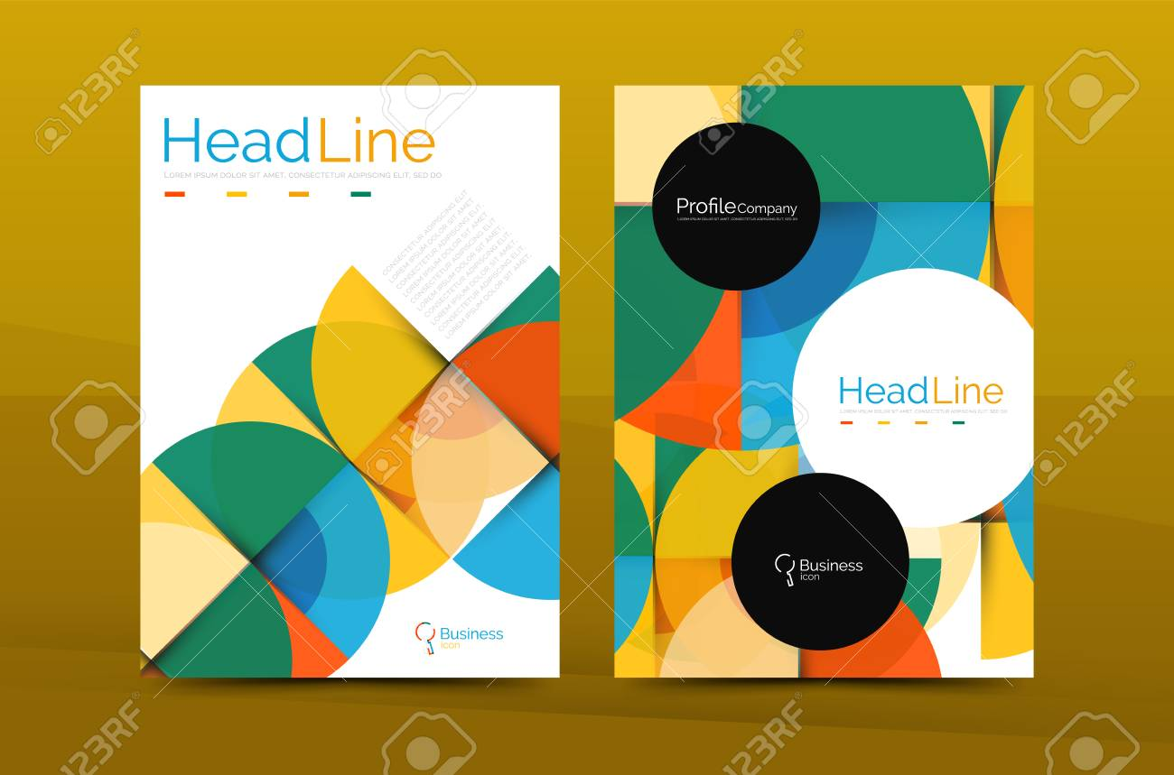 business company profile brochure template vector corporate brochure design stock vector 63042028