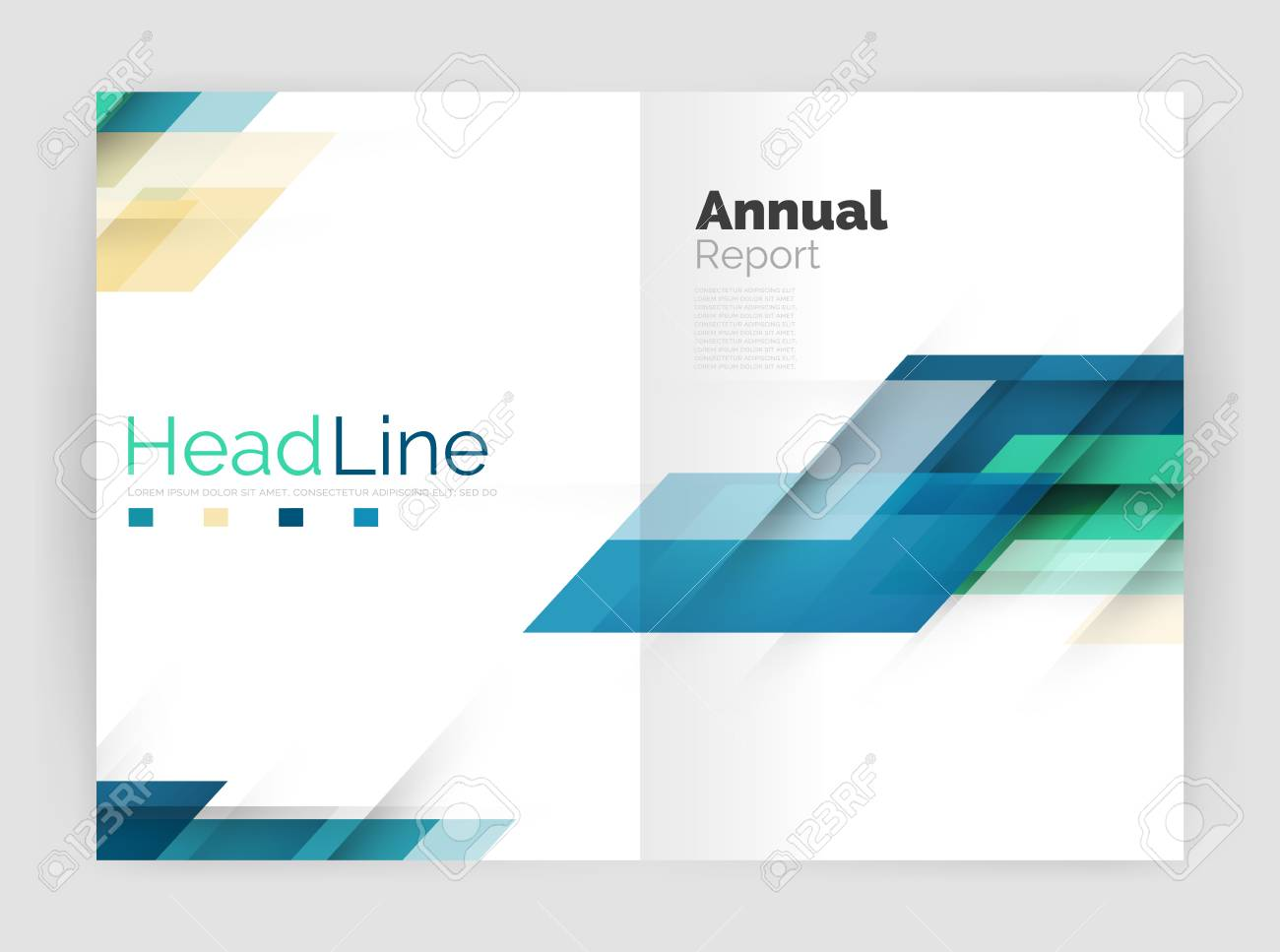 Geometric Business Annual Report Templates, Modern Brochure Flyer ...