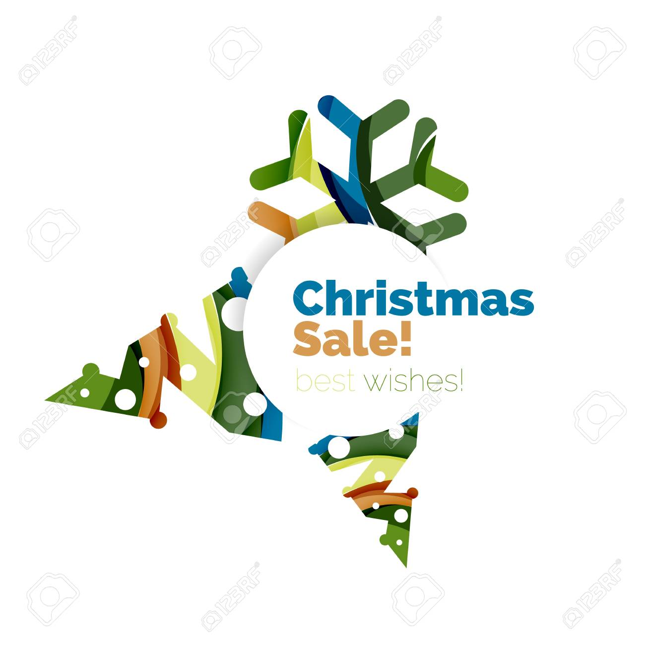 christmas and new year geometric banner with text vector illustration stock vector 64844424