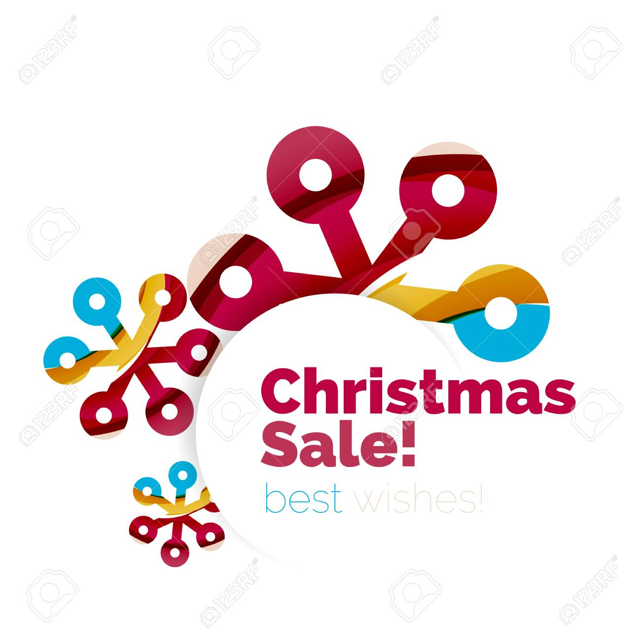 christmas and new year sale banner vector illustration stock vector 66406183