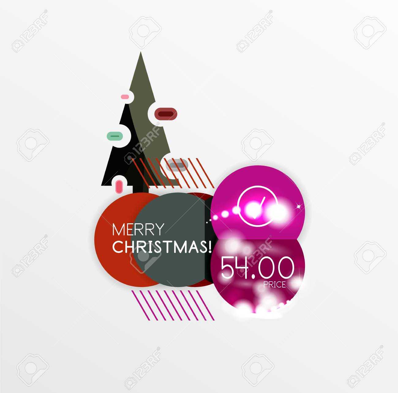 Christmas And New Year Sale Sticker Templates, Vector Illustration ...