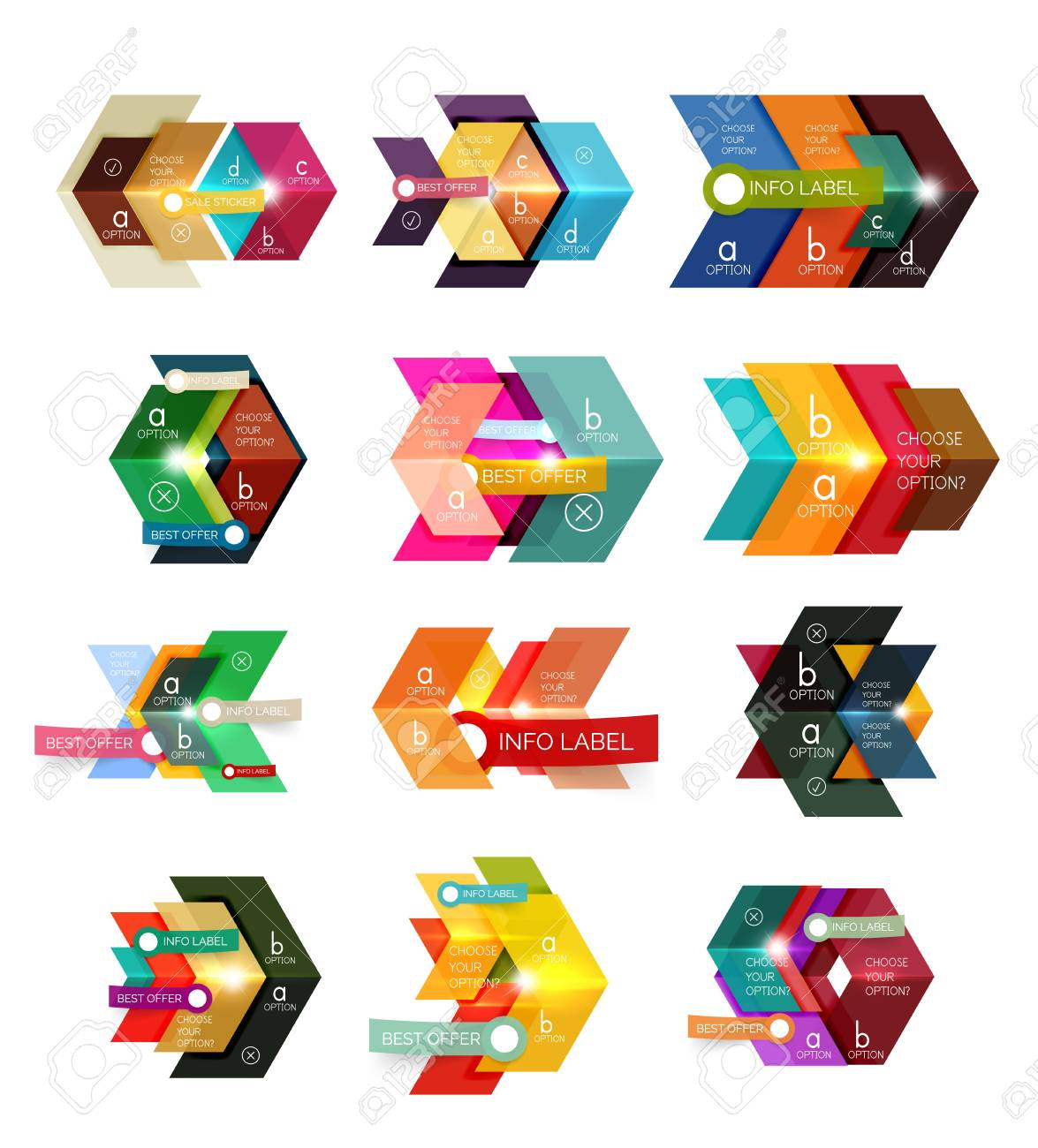Banner, Business-Hintergründe Und Präsentationen Infografiken ...