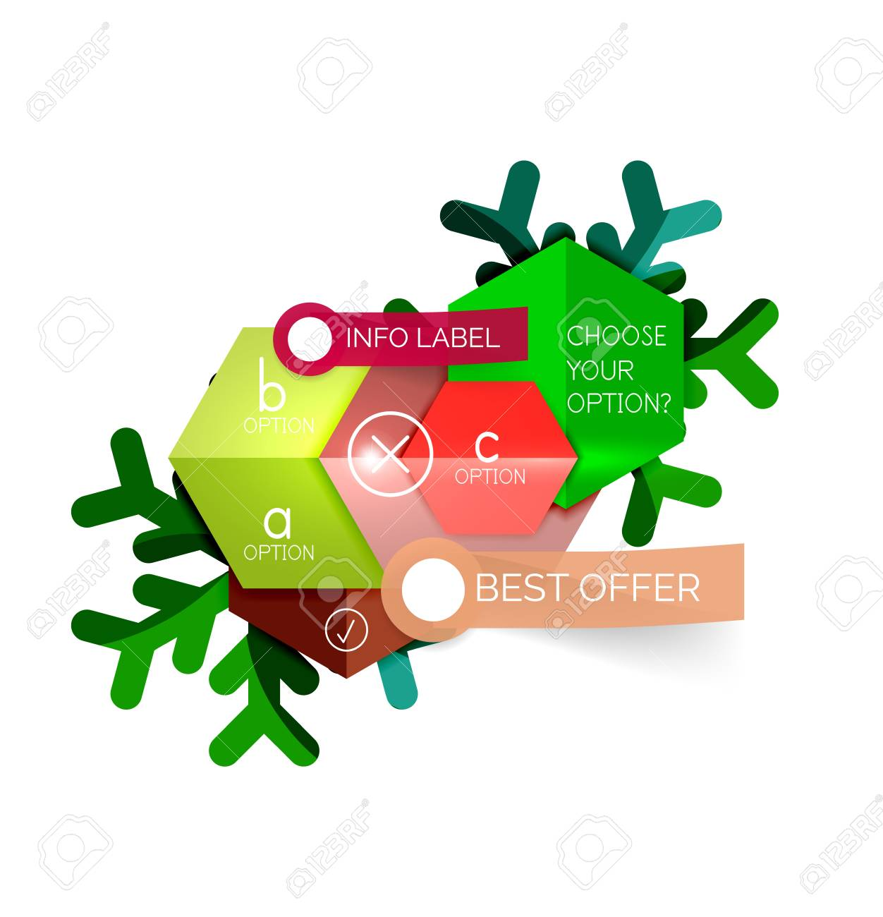 sale christmas tags and stickers vector new year greeting card