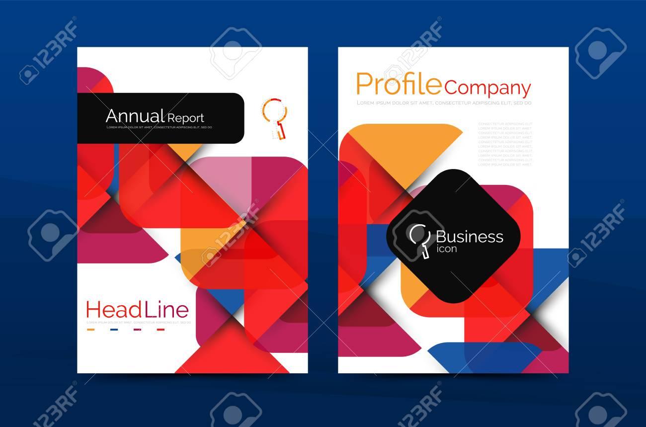 Business Company Profile Brochure Template Vector Corporate