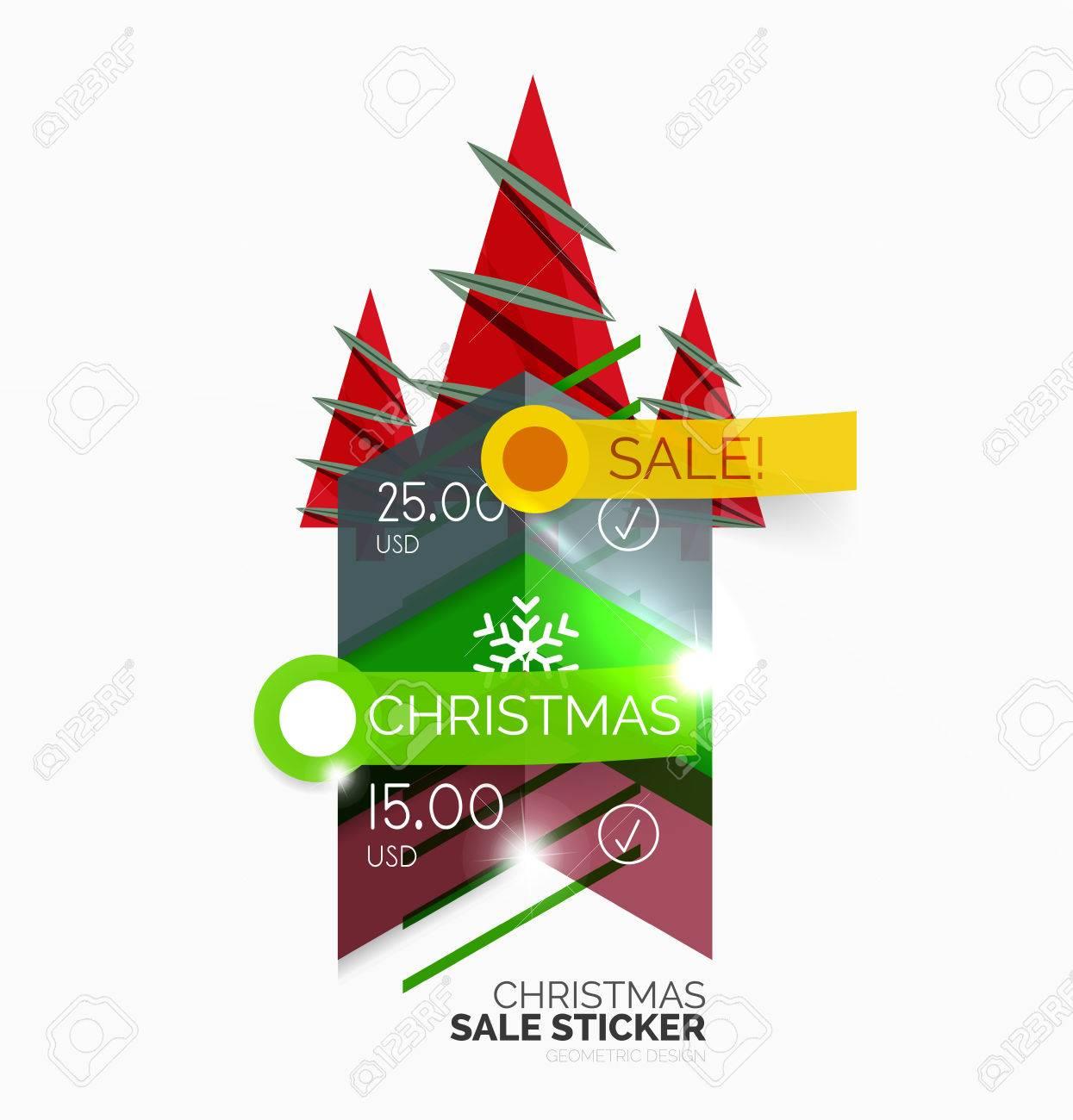 Glänzend Urlaub Neujahr Und Weihnachten Verkauf Banner, Vektor-Werbe ...