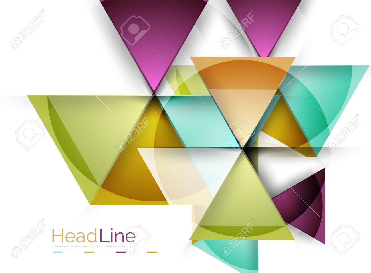 vector 3d geometric abstract background triangle template royalty