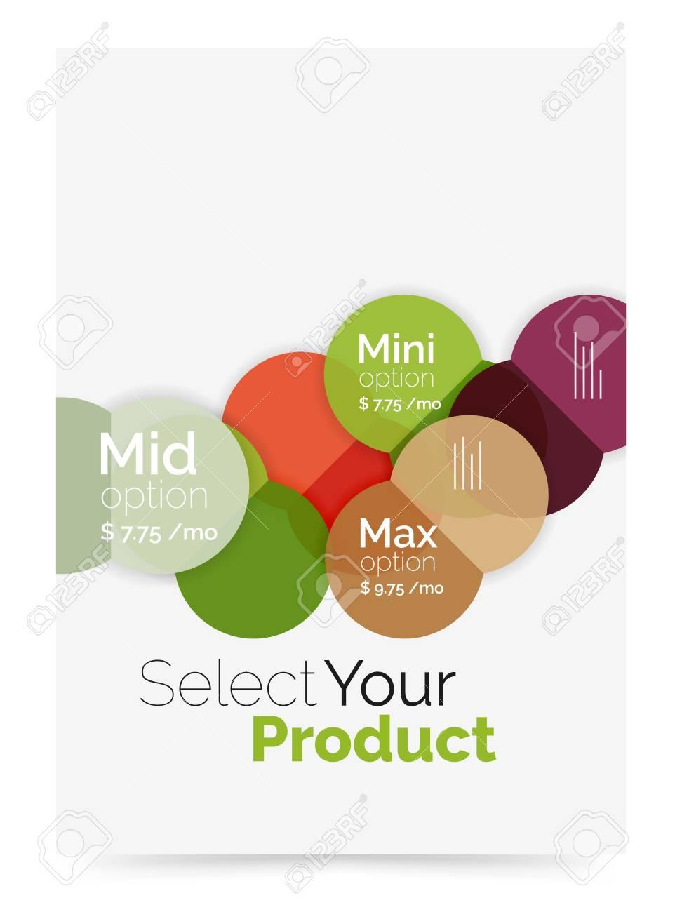 disposição do negócio selecione o seu produto com opções de