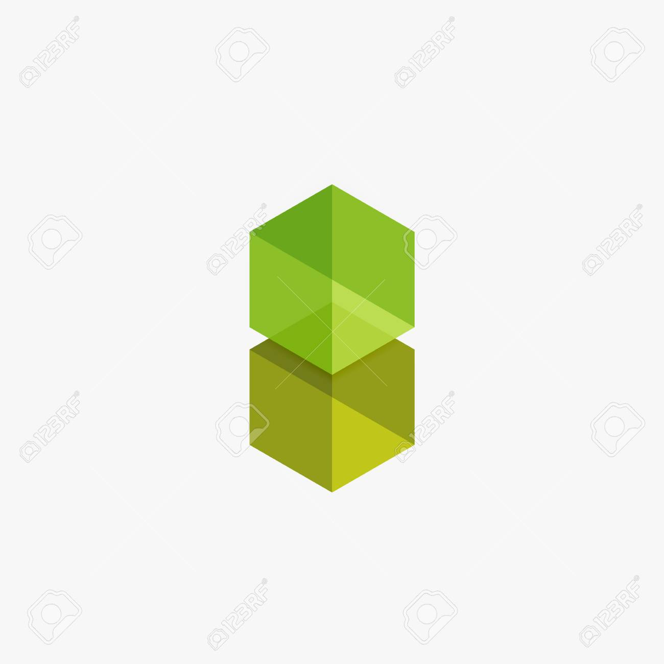Blank Geometrische Abstrakte Business-Vorlagen, Hexagon-Layouts ...