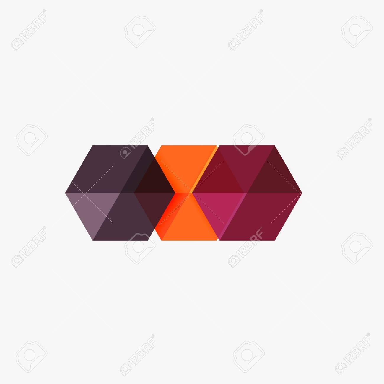 Blank Geometric Abstract Business Templates, Hexagon Layouts ...