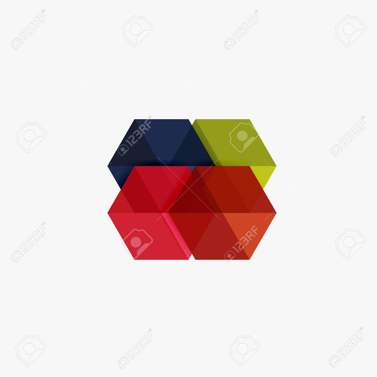 Blank Geometrische Abstrakte Business-Vorlagen, Hexagon-Layouts ...