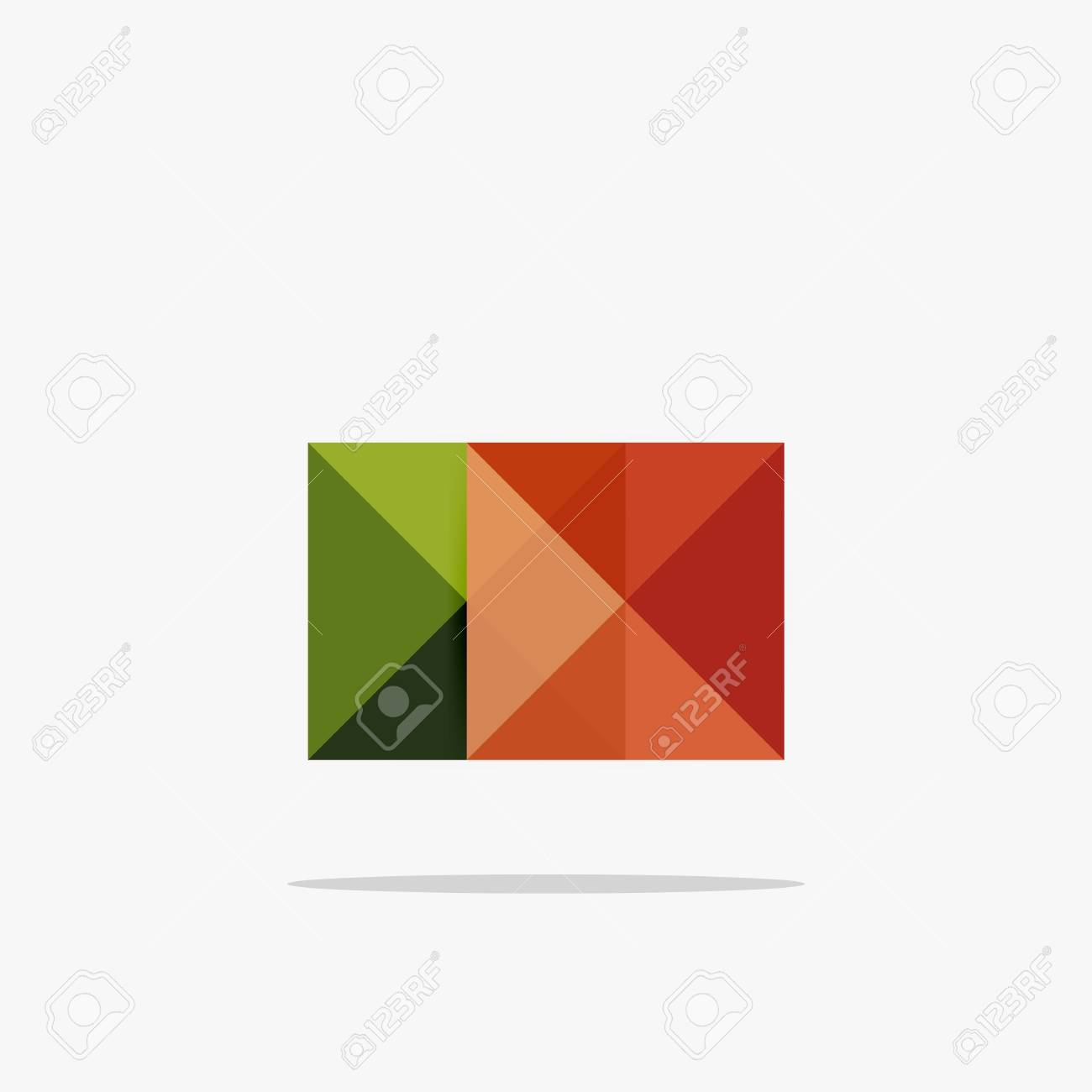 vector blank abstract squares background infographic template