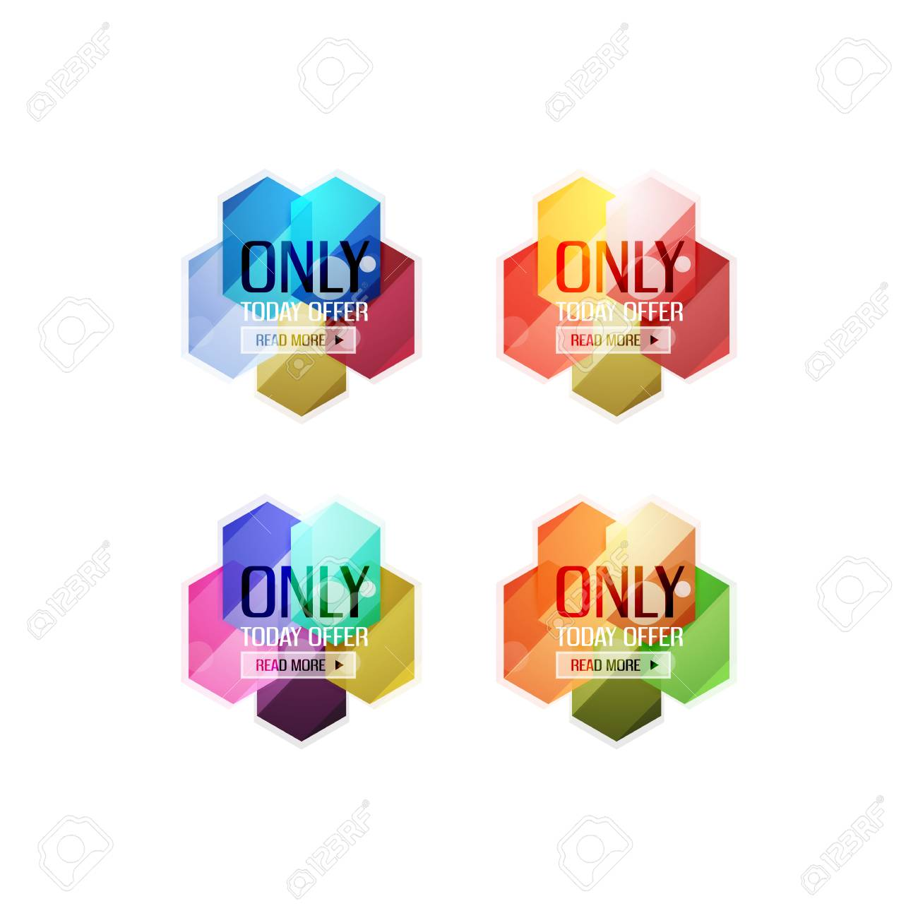 vector special offer stickers and banners sale tags labels