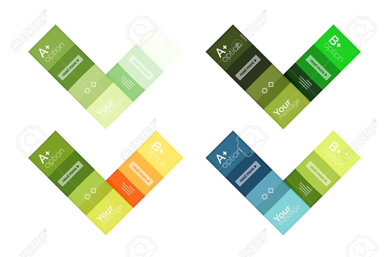 Square Und Streifen Geometrische Infografik-Vorlagen. Geometrische ...