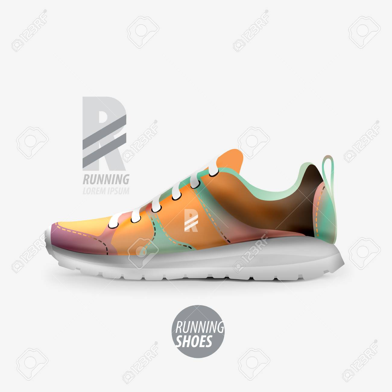 Vector Free Royalty Shoes Ad Product Template Running Cliparts OPk0Nw8nX