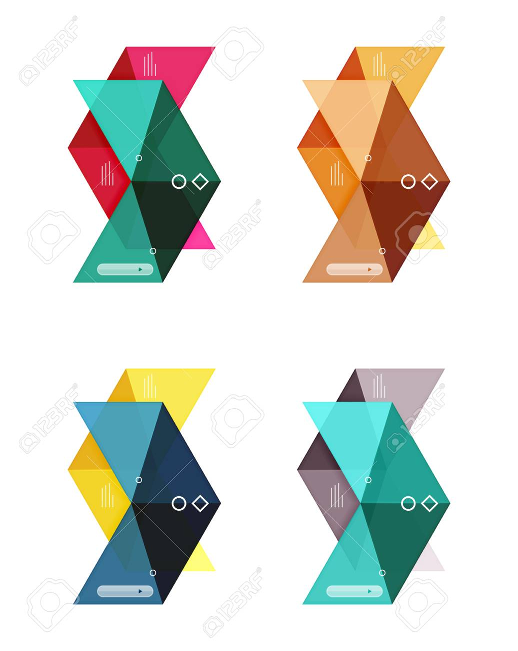 vector blank infographic arrow templates royalty free cliparts