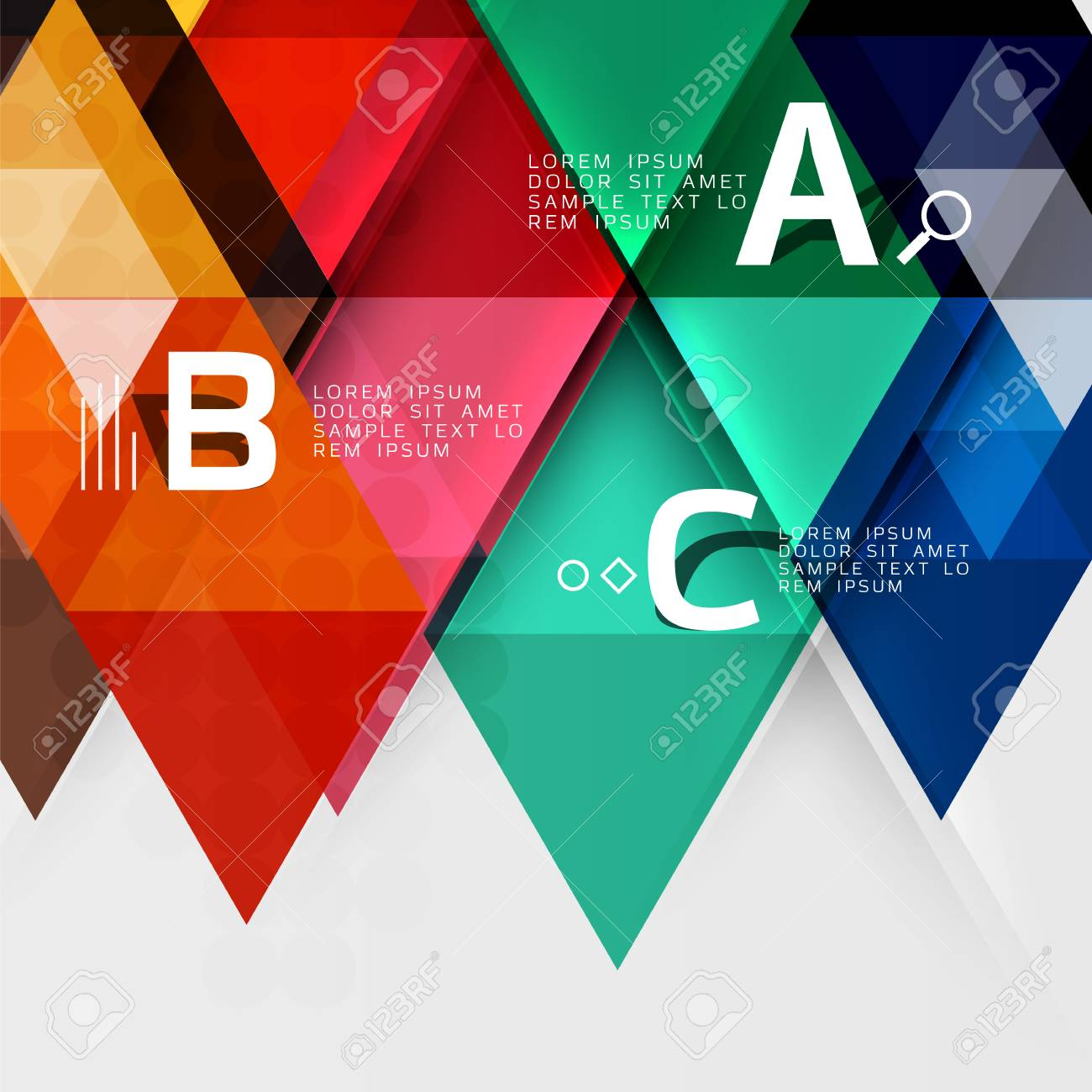 Transparent Triangle Tiles Banner. Vector Template Background ...