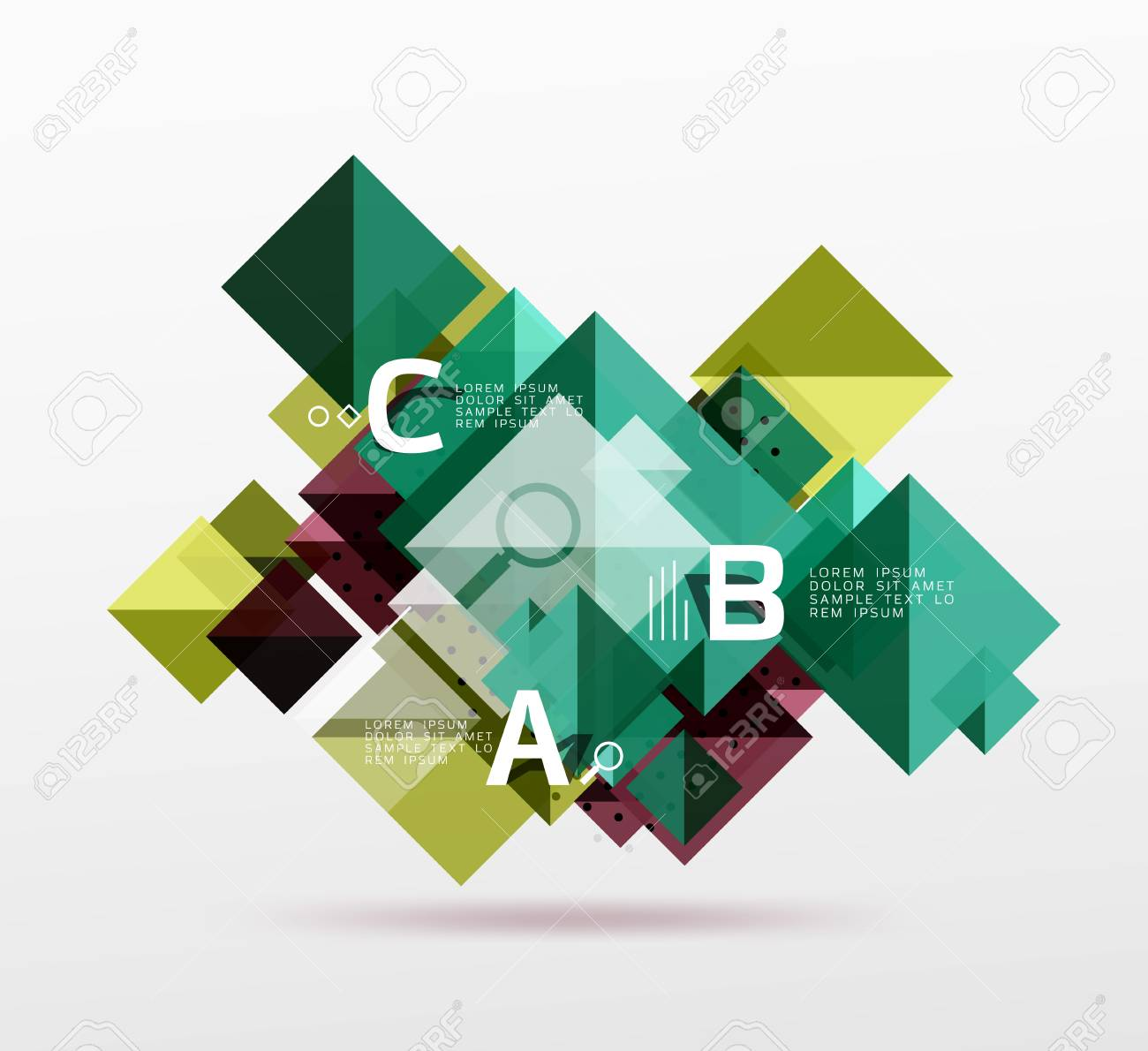 Repetition Of Overlapping Color Squares Royalty Free Cliparts ...