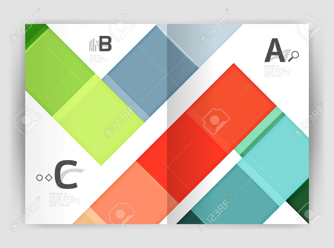 Colorful Modern Stripes Business Flyer. Vector Design For Print ...