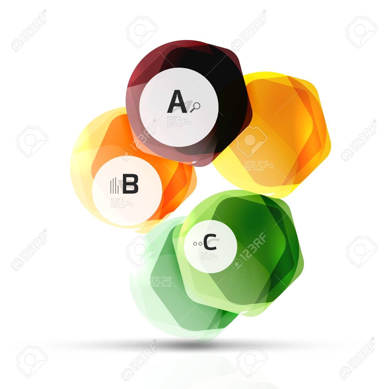 Hexágonos De Color De Vidrio. Diseño Hexagonal De Plástico Brillante ...
