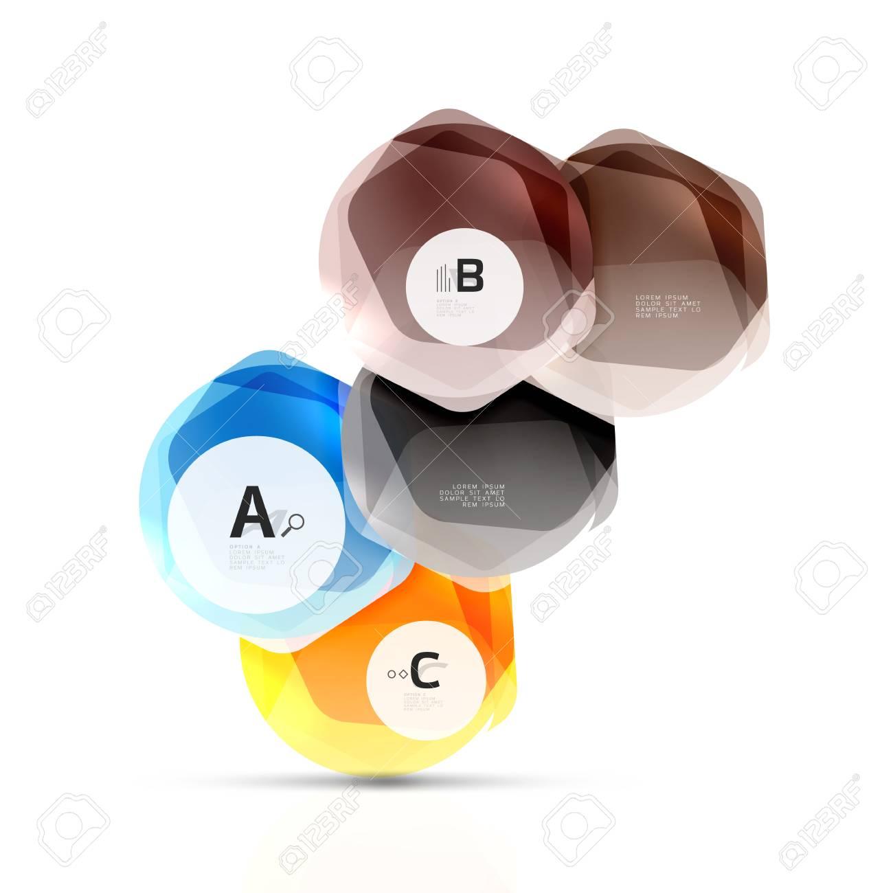 Hexágonos De Color De Vidrio. Diseño Plástico Hexagonal Brillante ...