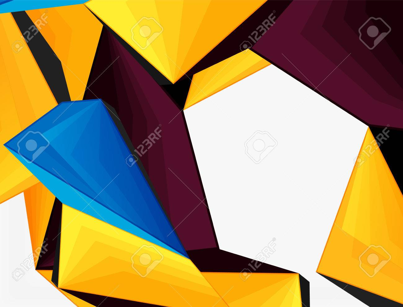 low poly geometric 3d shape futuristic modern background vector