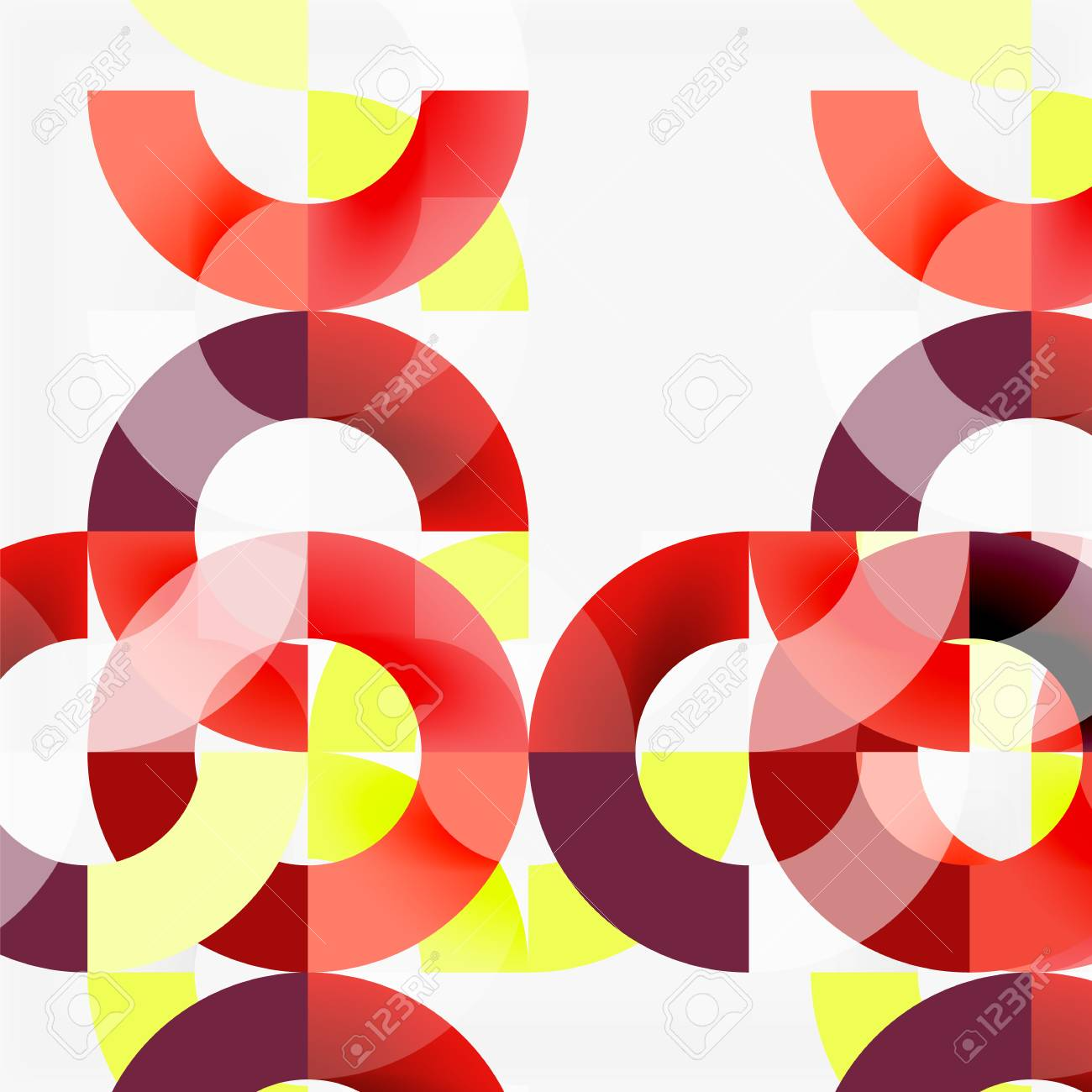Colorful Rings On Grey Background, Modern Geometric Pattern Design ...