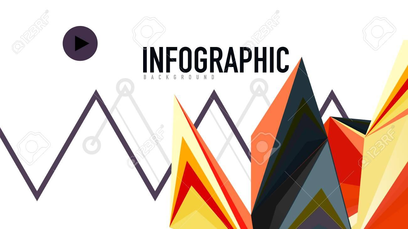 modern triangle presentation template business design background
